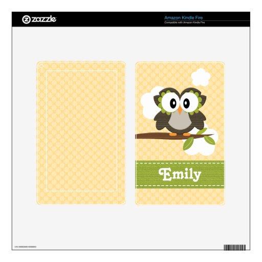 Yellow Owl Kindle Kindle Fire Skin