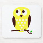 Yellow Owl Mouse Pad
