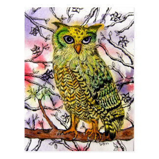 Yellow Owl Post Cards