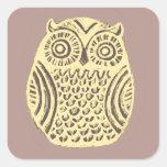 yellow owl sticker sheet