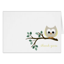 Yellow Owl Thank You Card