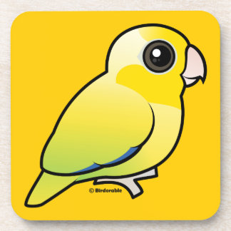 Yellow Pacific Parrotlet Drink Coasters