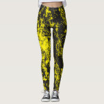 "Yellow Paint Brush Splatter Leggings<br><div class=""desc"">Yellow Paint Brush Splatter Leggings</div>"
