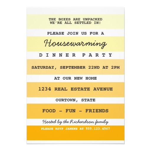 Housewarming Invitation Samples with awesome invitation template
