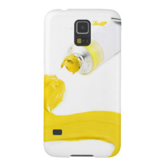 Yellow paint smudge case for galaxy s5