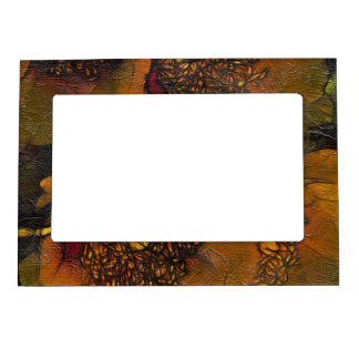 Yellow Painted Flowers Magnetic Photo Frame