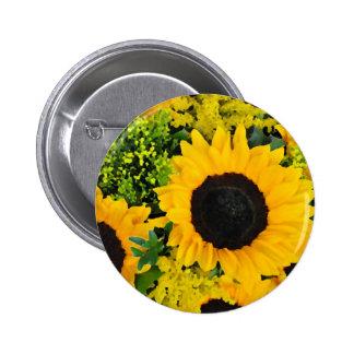 Yellow painted sunflowers pin