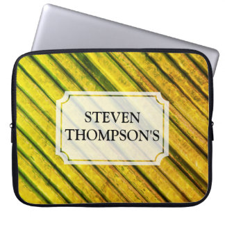 Yellow Painted Texture Laptop Sleeve