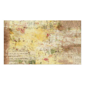 yellow painted vintage newspaper business card templates