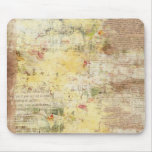 yellow painted vintage newspaper mouse pad