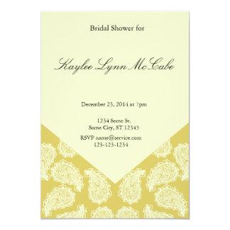 Yellow Paisley Bridal Shower Card