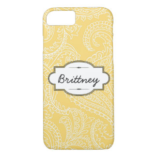 Yellow Paisley iPhone 7 Barely There Case