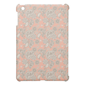 Yellow Paisley on Peach Cover For The iPad Mini
