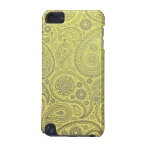 Yellow paisley worn fabric iPod touch (5th generation) case