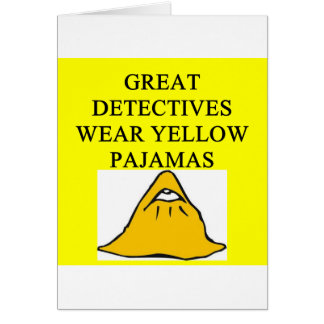 YELLOW pajamas Card