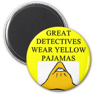 YELLOW pajamas 2 Inch Round Magnet