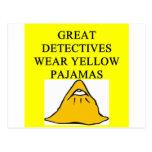 YELLOW pajamas Postcard