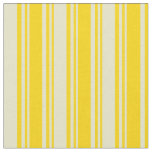 [ Thumbnail: Yellow & Pale Goldenrod Lined Pattern Fabric ]