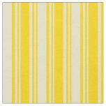 [ Thumbnail: Yellow & Pale Goldenrod Lined Pattern Fabric ]