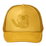 Yellow Panhead with Pipes Trucker Hats