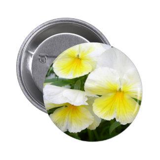 Yellow Pansies Button