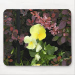 yellow pansies mouse pad