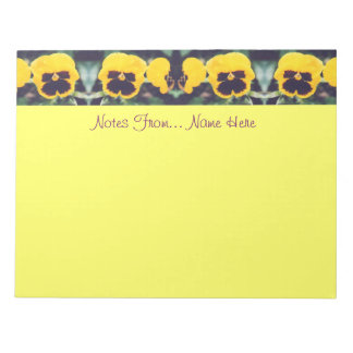 Yellow Pansies Note Pad