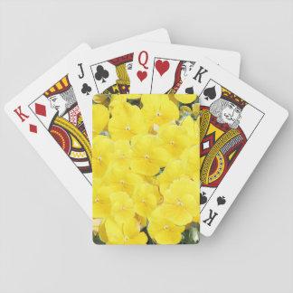 Yellow pansies poker deck