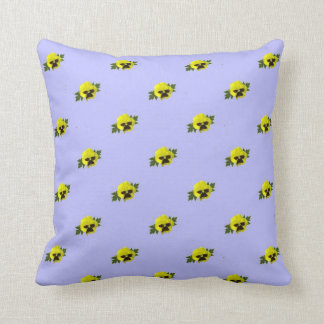 Yellow Pansies On Purple Throw Pillow