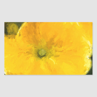 Yellow Pansies Rectangular Sticker