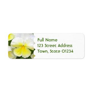 Yellow Pansies Return Address Label
