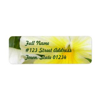 Yellow Pansies Return Address Mailing Label Return Address Label
