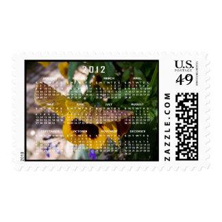 Yellow Pansy; 2012 Calendar Postage