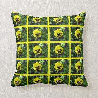 Yellow Pansy American MoJo Pillow