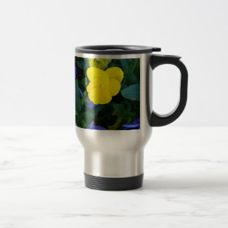 Yellow Pansy Commuter Mug - Spring Flowers
