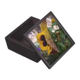 Yellow Pansy Jewelry Box