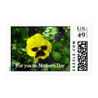 Yellow pansy Mother's Day postage