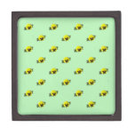 Yellow Pansy On Green Premium Jewelry Boxes