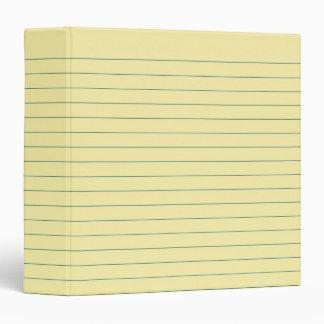 Yellow Paper 3 Ring Binder