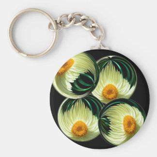 Yellow Paper Daisy Basic Round Button Keychain
