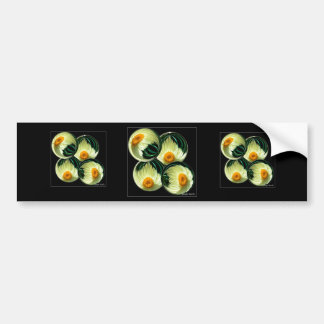Yellow Paper Daisy Bumper Sticker