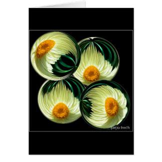 Yellow Paper Daisy Card