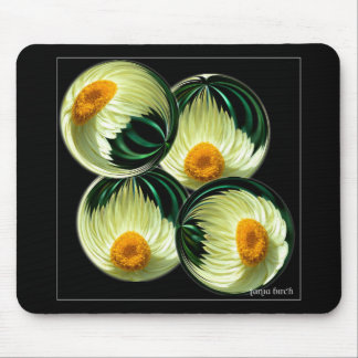 Yellow Paper Daisy Mouse Pad