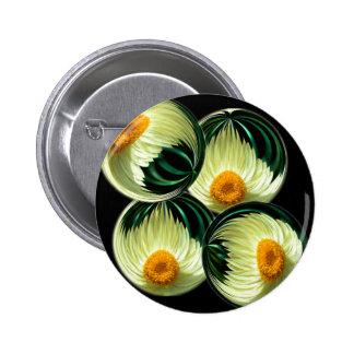 Yellow Paper Daisy Pinback Button