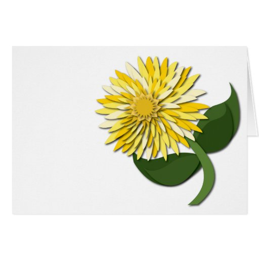 Yellow Paper Flower Notecard Greeting Card