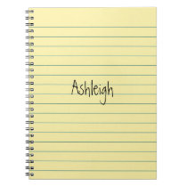Yellow Paper Notebook