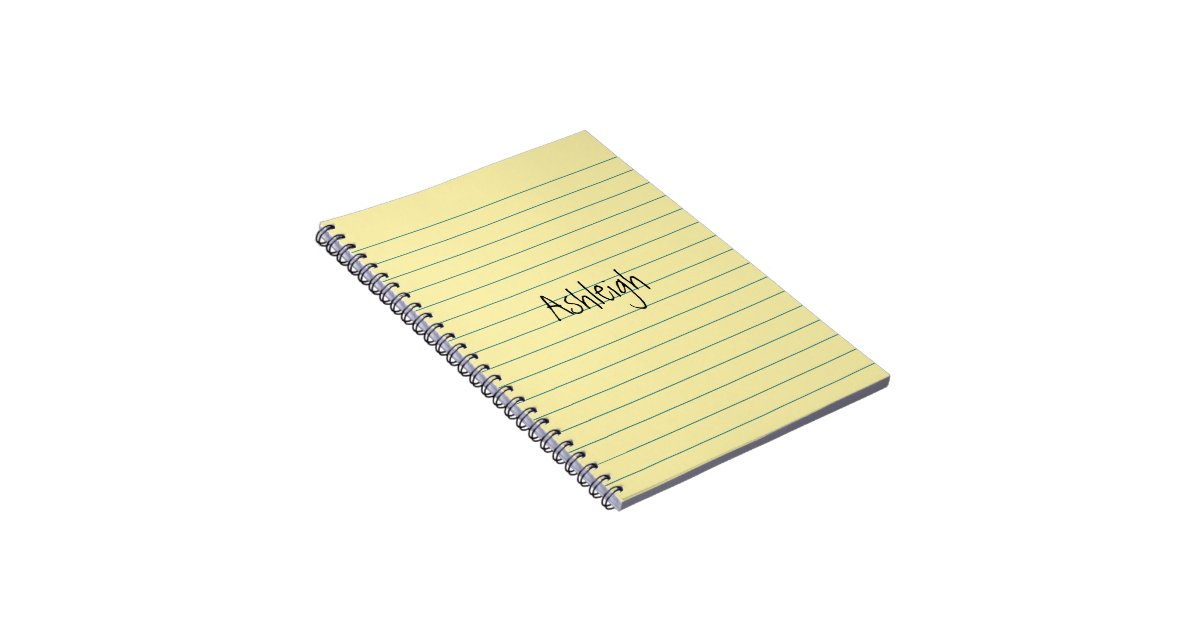 spiral notebook yellow paper
