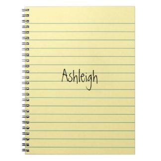 Yellow Paper Spiral Notebook