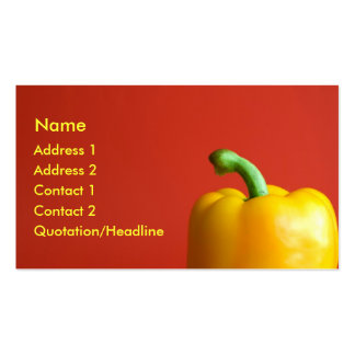 yellow paprika business cards