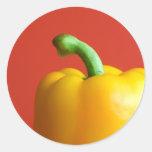 yellow paprika classic round sticker